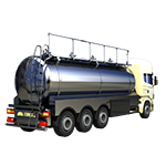 single_body_four_seperated_milk_transportation_truck